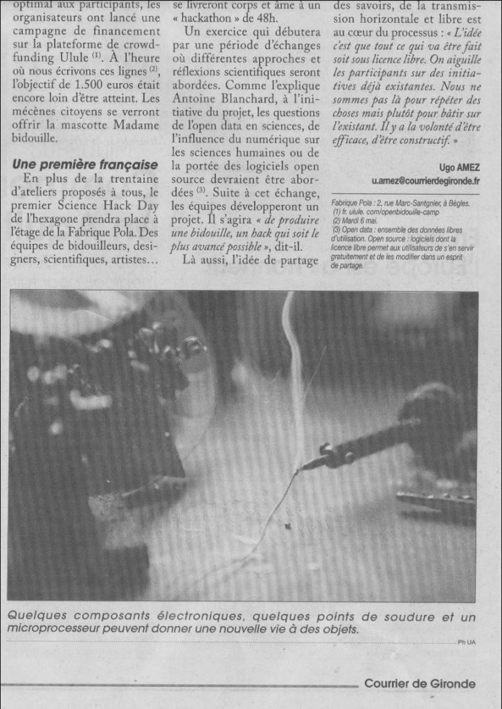 SHDBdx Courrier de Gironde